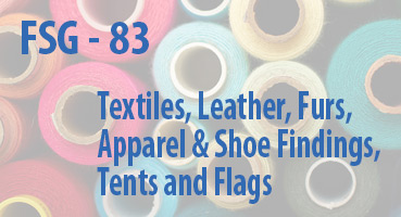 Textiles, Leather, Furs, Apparel and Shoe Findings, Tents and Flags