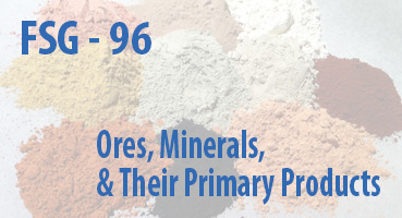 Ores, Minerals, and Their Primary Products